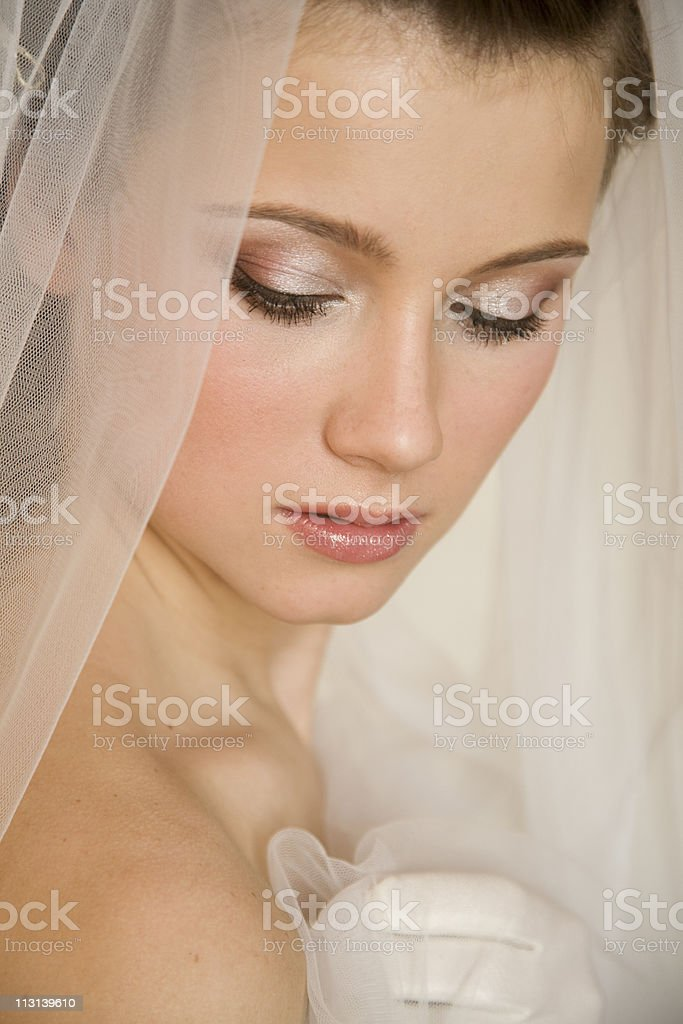 Face of cute bride. XL royalty-free stock photo