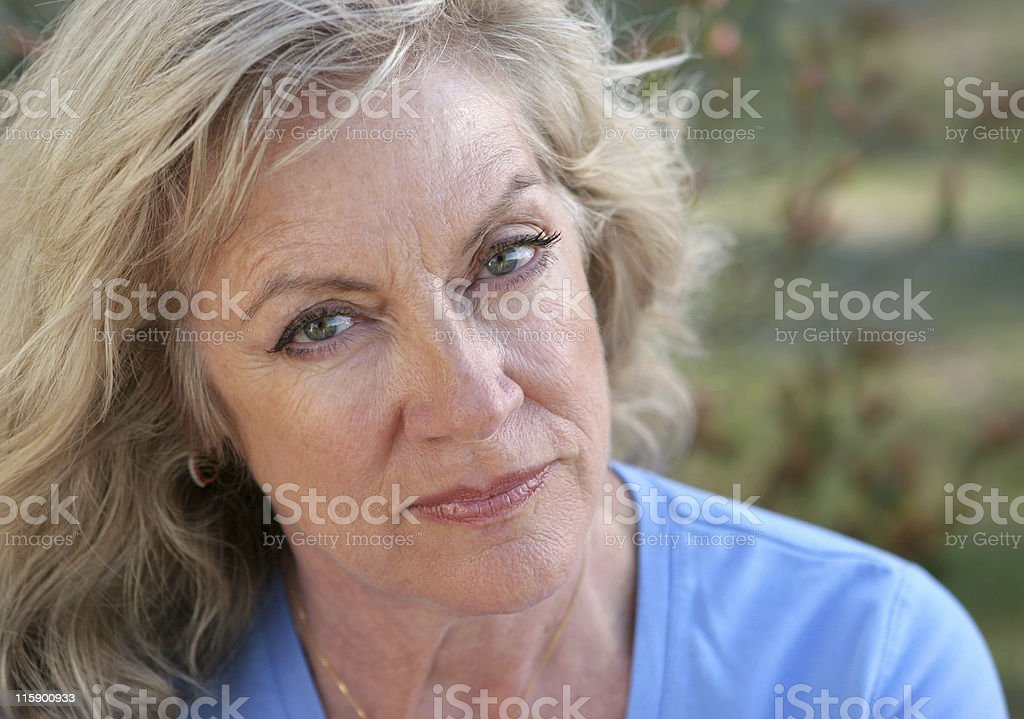 Face Of Distrust royalty-free stock photo