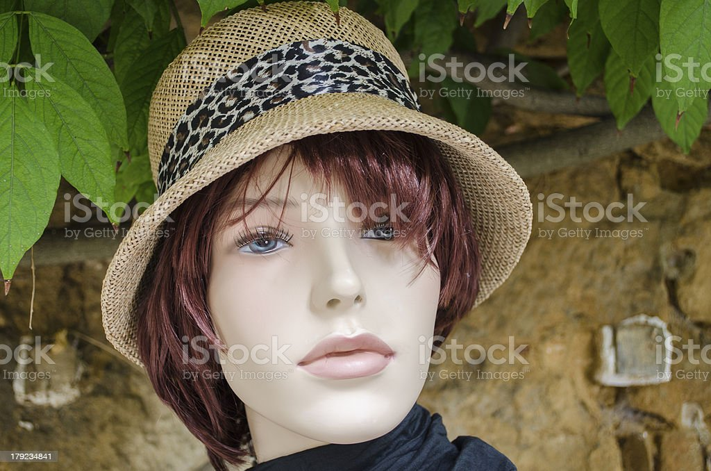 Face of female mannequin royalty-free stock photo