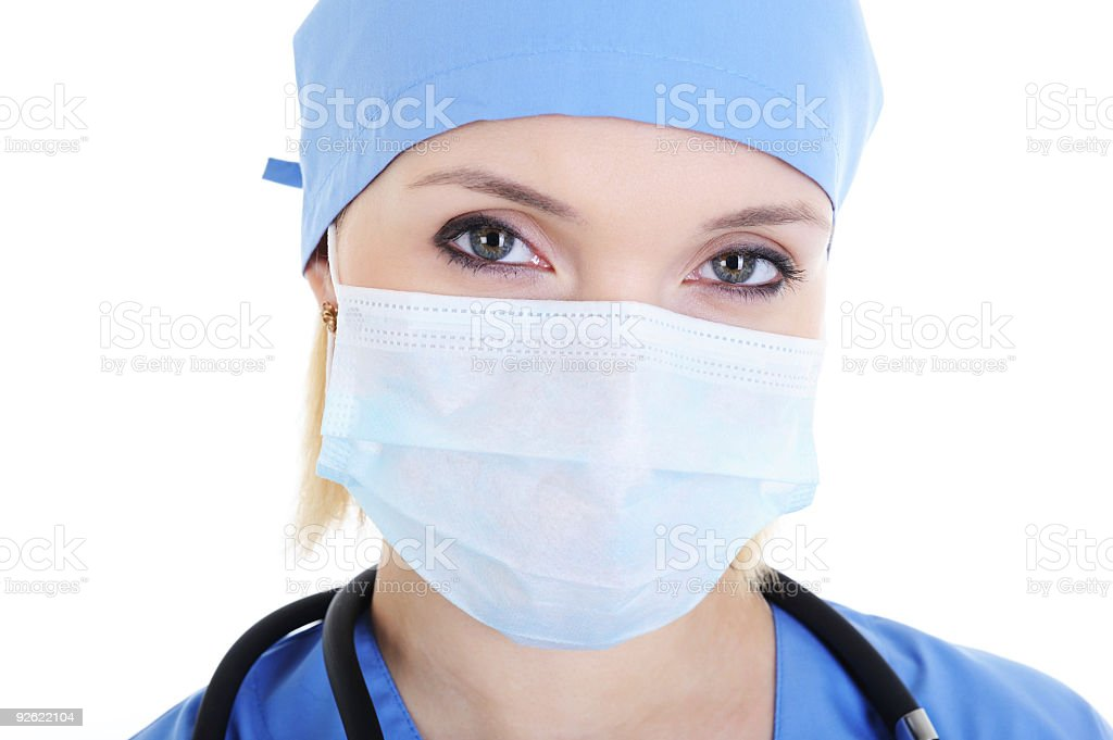 face of female surgeon royalty-free stock photo