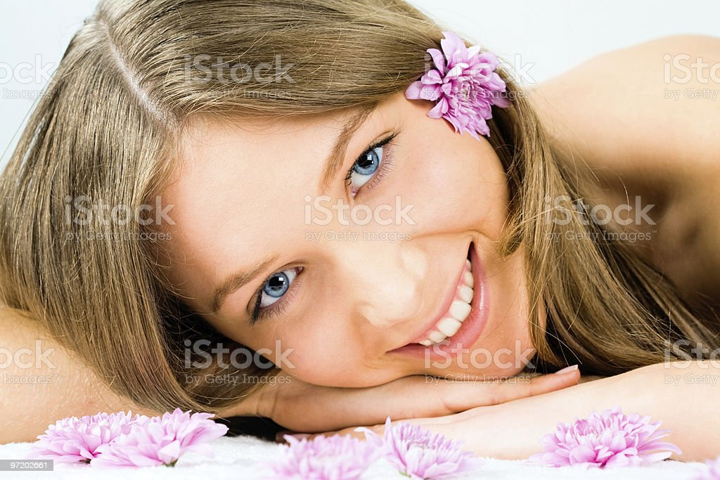 Face of girl royalty-free stock photo