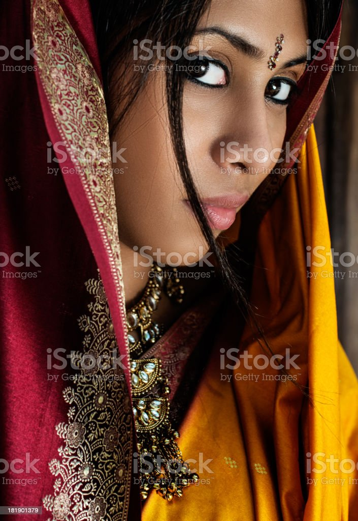 Face of Indian woman royalty-free stock photo
