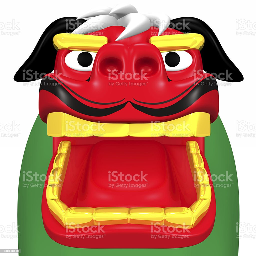 Face Of Japanese Lion Dance royalty-free stock photo