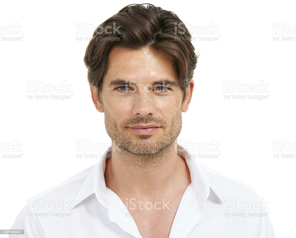 Face of modern masculine allure royalty-free stock photo