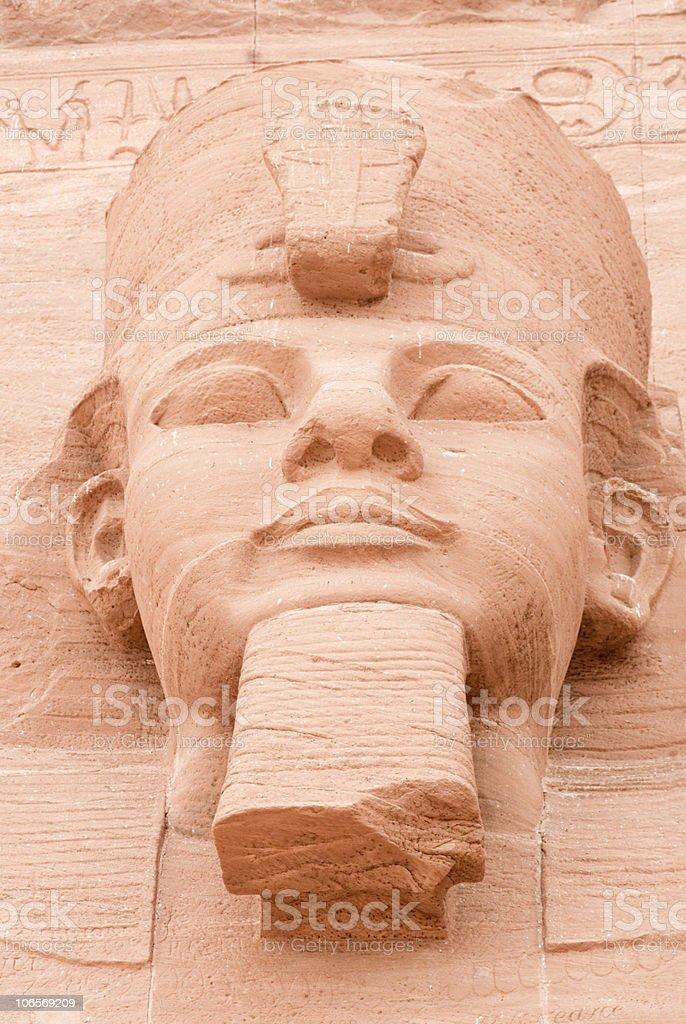 Face of Ramses II,Abu Simbel, Egypt. stock photo