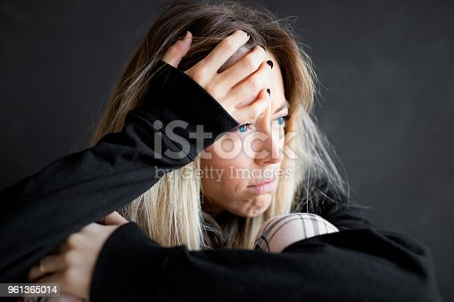 istock Face of sad woman 961365014