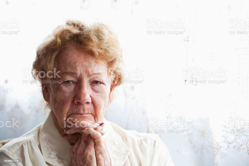 Face of senior woman royalty-free stock photo