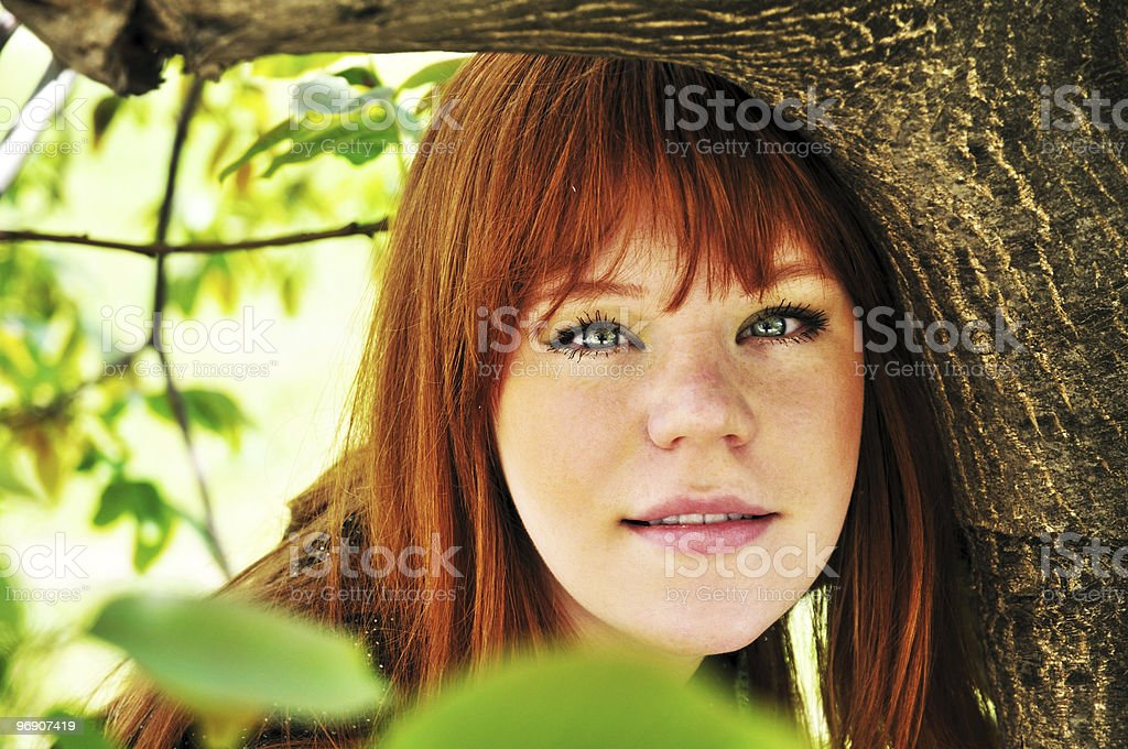 face of spring girl royalty-free stock photo