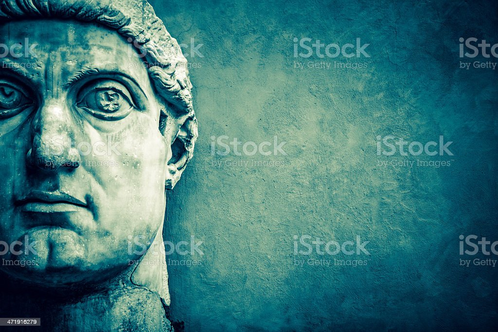 Face of the Emperor Constantine Face of the Emperor Constantine  Ancient Stock Photo