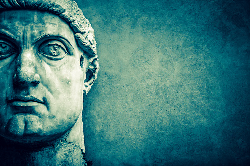 Face Of The Emperor Constantine Stock Photo - Download Image Now