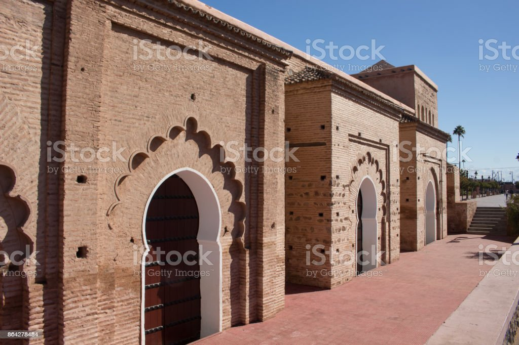 Face of the Koutoubia-mosque in Marrakesh royalty-free stock photo