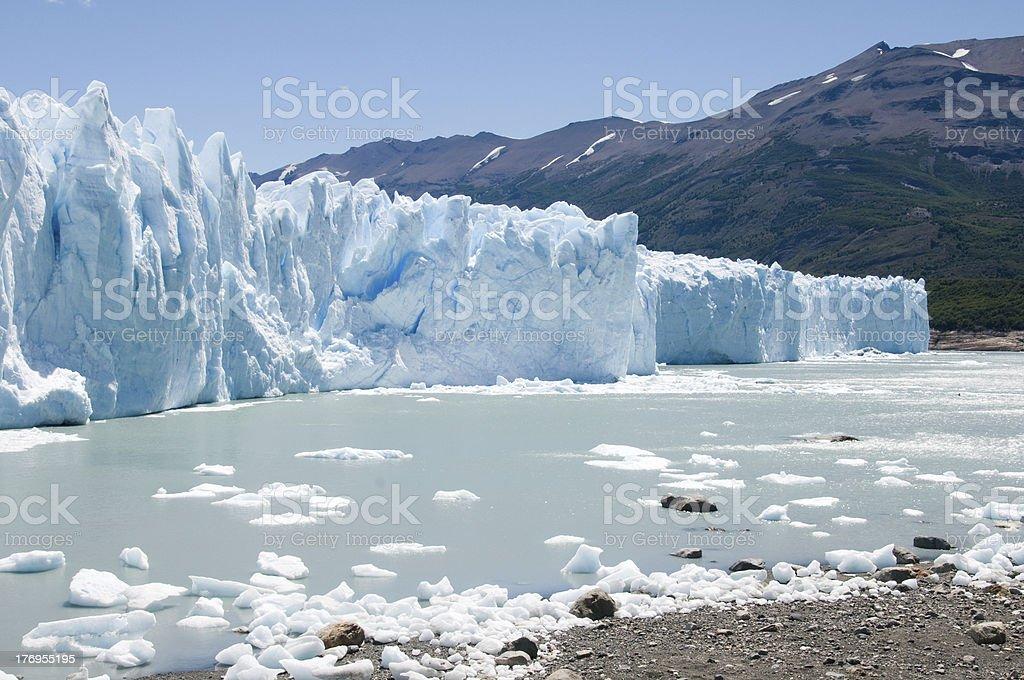 Face of the Perito Merino glacier, Argentina stock photo