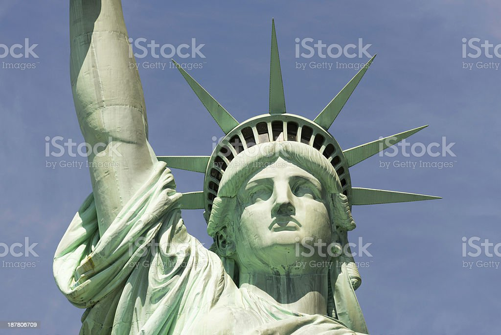 d4f440225285a Face of the Statue of Liberty, New York City royalty-free stock photo