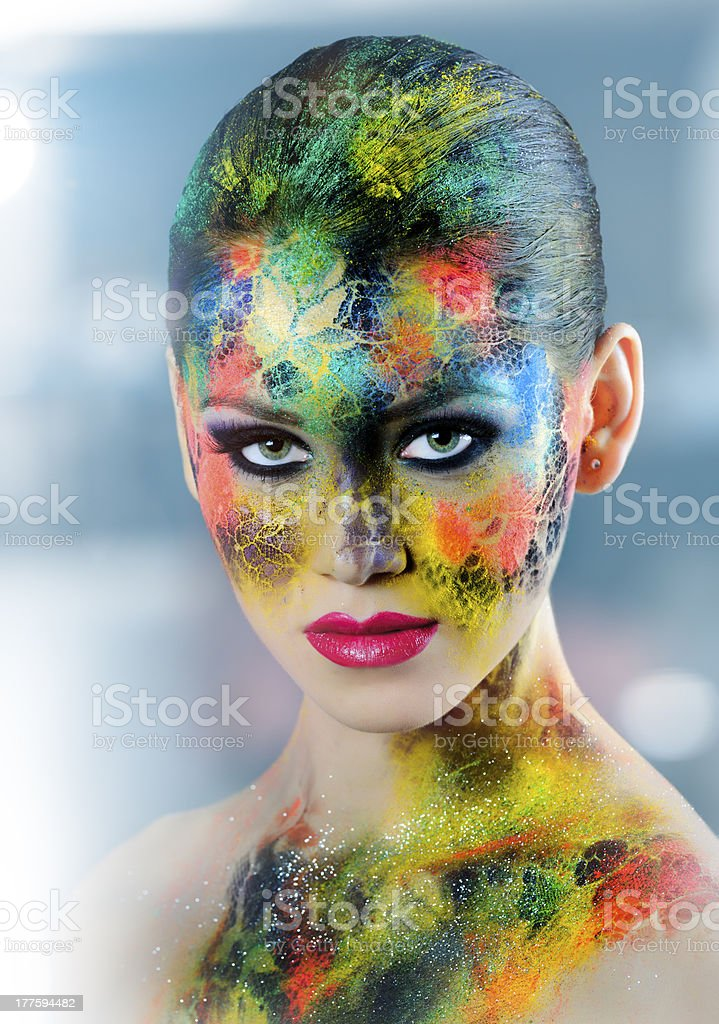 face paint royalty-free stock photo