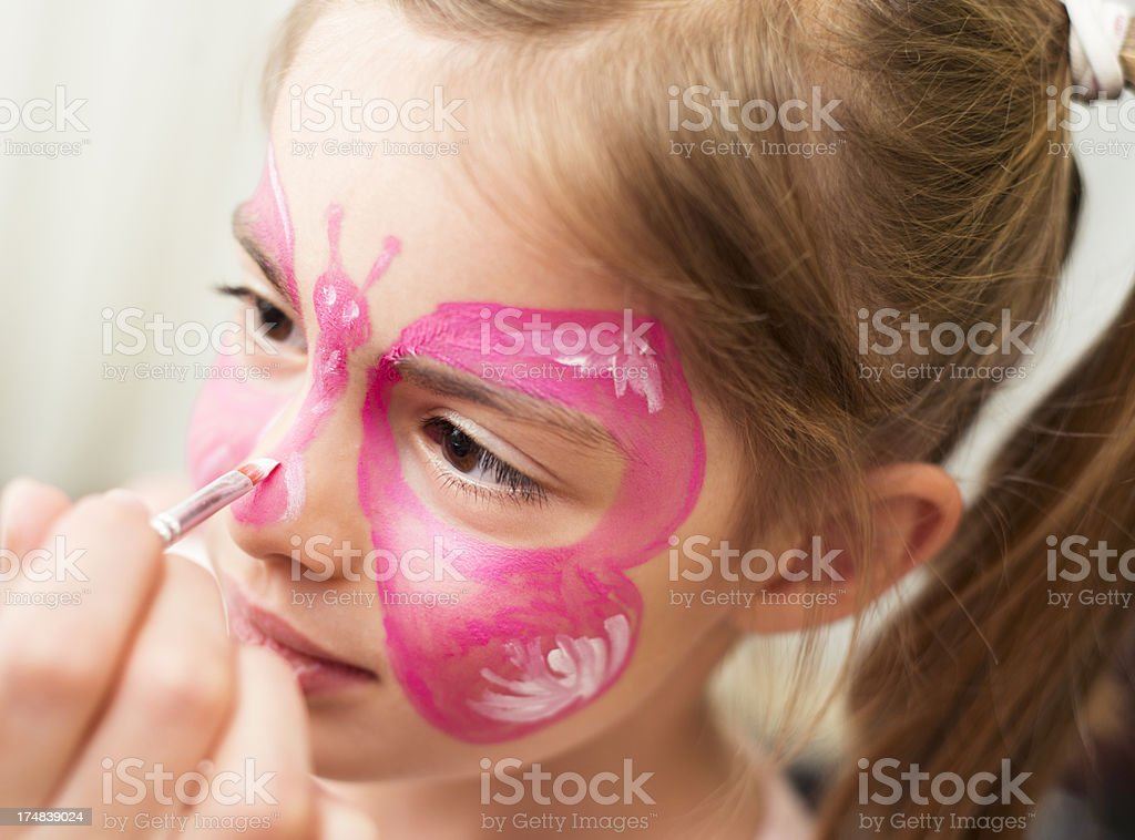 Face painting fun stock photo