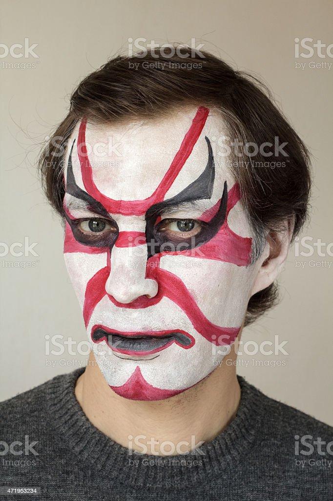 Face painting kabuki stock photo