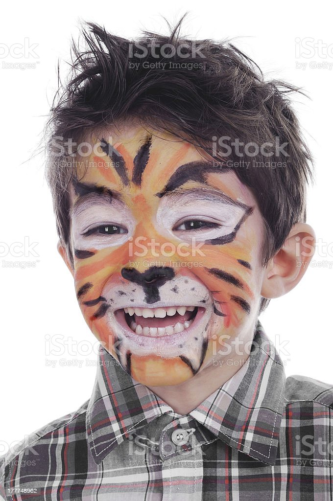 Face painting of tiger royalty-free stock photo