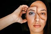Individuality, Creativity, Abstract, Make-Up, Human Face, Paint, Women, Art