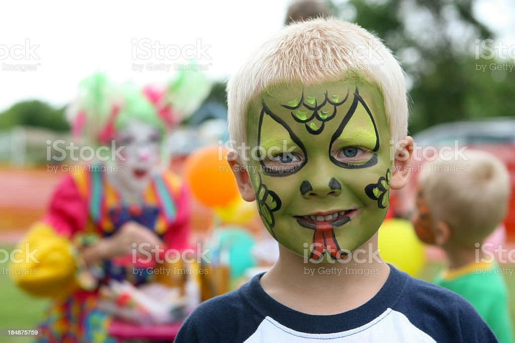 Face painting party royalty-free stock photo