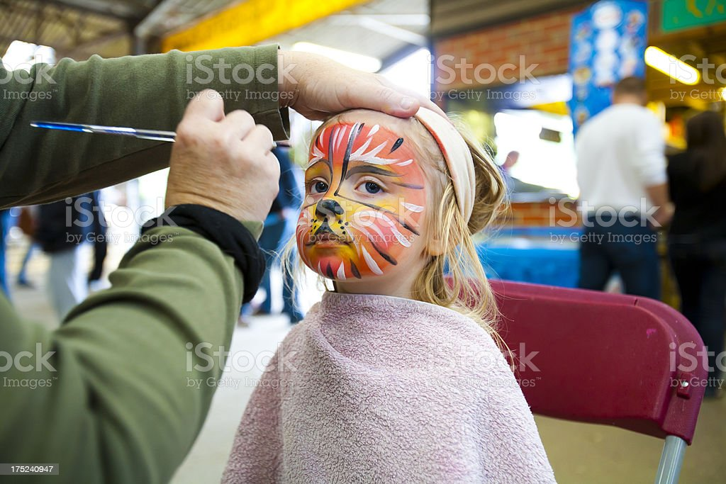Face painting royalty-free stock photo