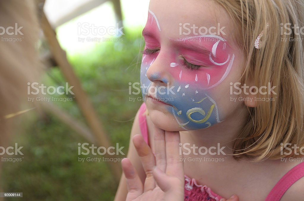 Face painting. royalty-free stock photo