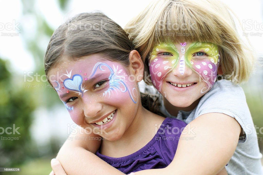 Face paited kids royalty-free stock photo