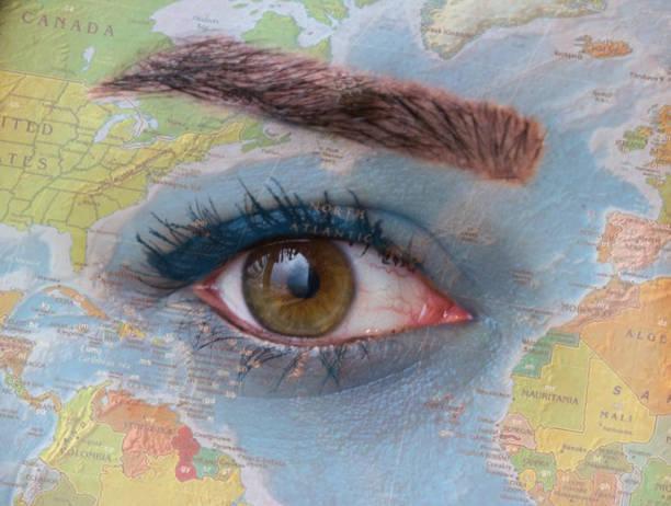 Best Earth Eye World Map Eyeball Stock Photos ... on eye earth, eye mind map, eye egypt, eye clock, home depot map, an old map,