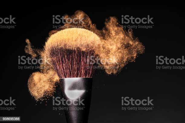 Face powder in motion on a makeup brush on a black studio background picture id938695388?b=1&k=6&m=938695388&s=612x612&h=uuidcar uag9minprwkepgqc8mmm9976lkhnxvmmep8=