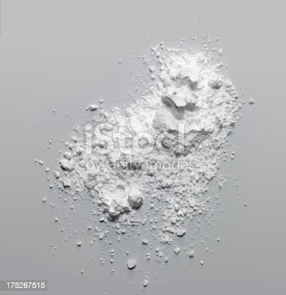 Face Powder on gray background.