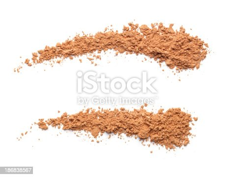 Face Powder on white background.