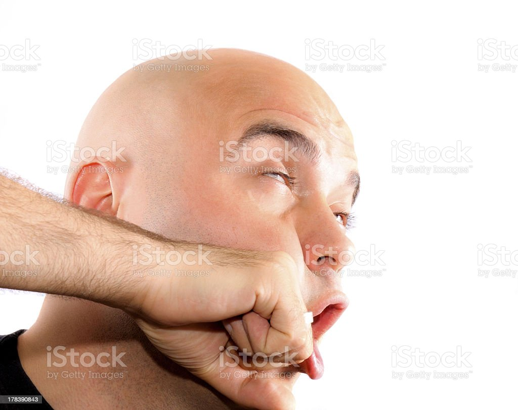 Face punch stock photo