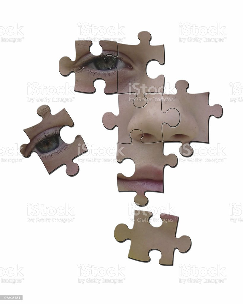 face puzzle royalty-free stock photo