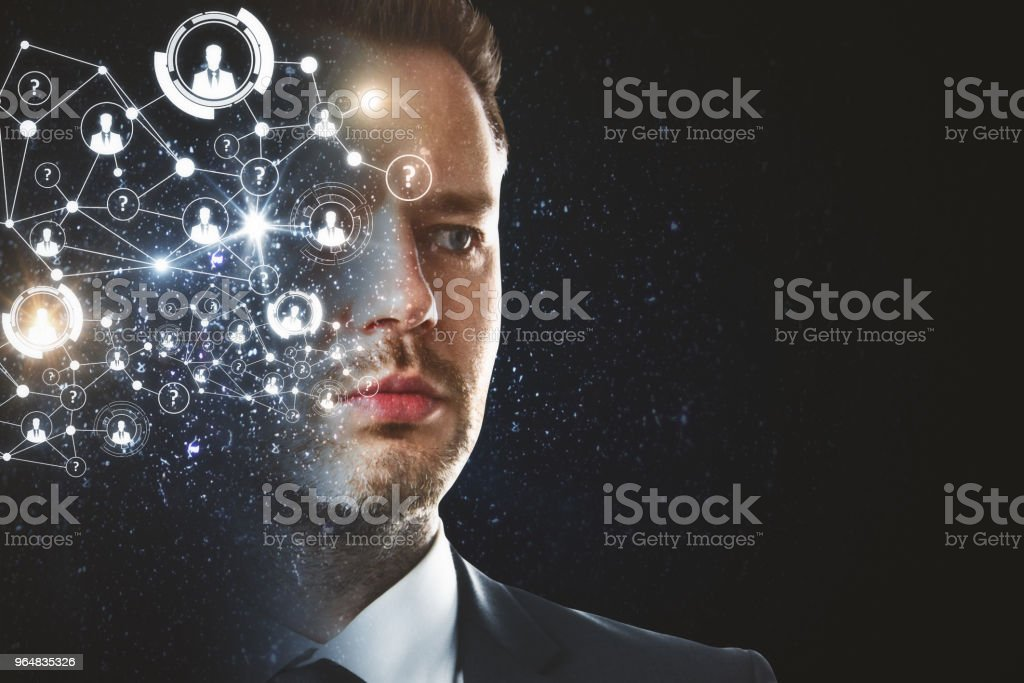Face recognition and innovation concept royalty-free stock photo
