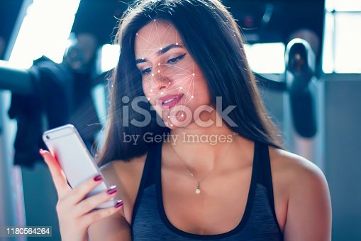 1021681352 istock photo Face recognition. Sports concept. 1180564264