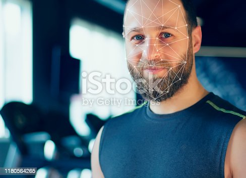 1021681352 istock photo Face recognition. Sports concept. 1180564265