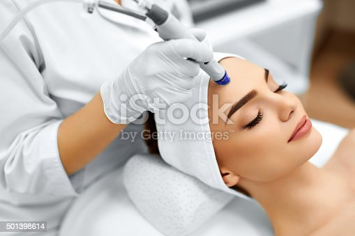 istock Face Skin Care. Facial Hydro Microdermabrasion Peeling Treatment 501398614