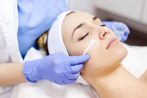 Nettoyage de la peau visage - Photo