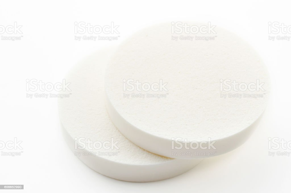 Face sponge powder stock photo