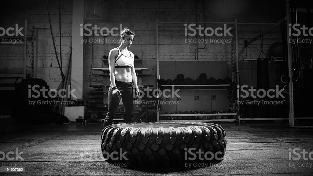 Face to face with gym stock photo