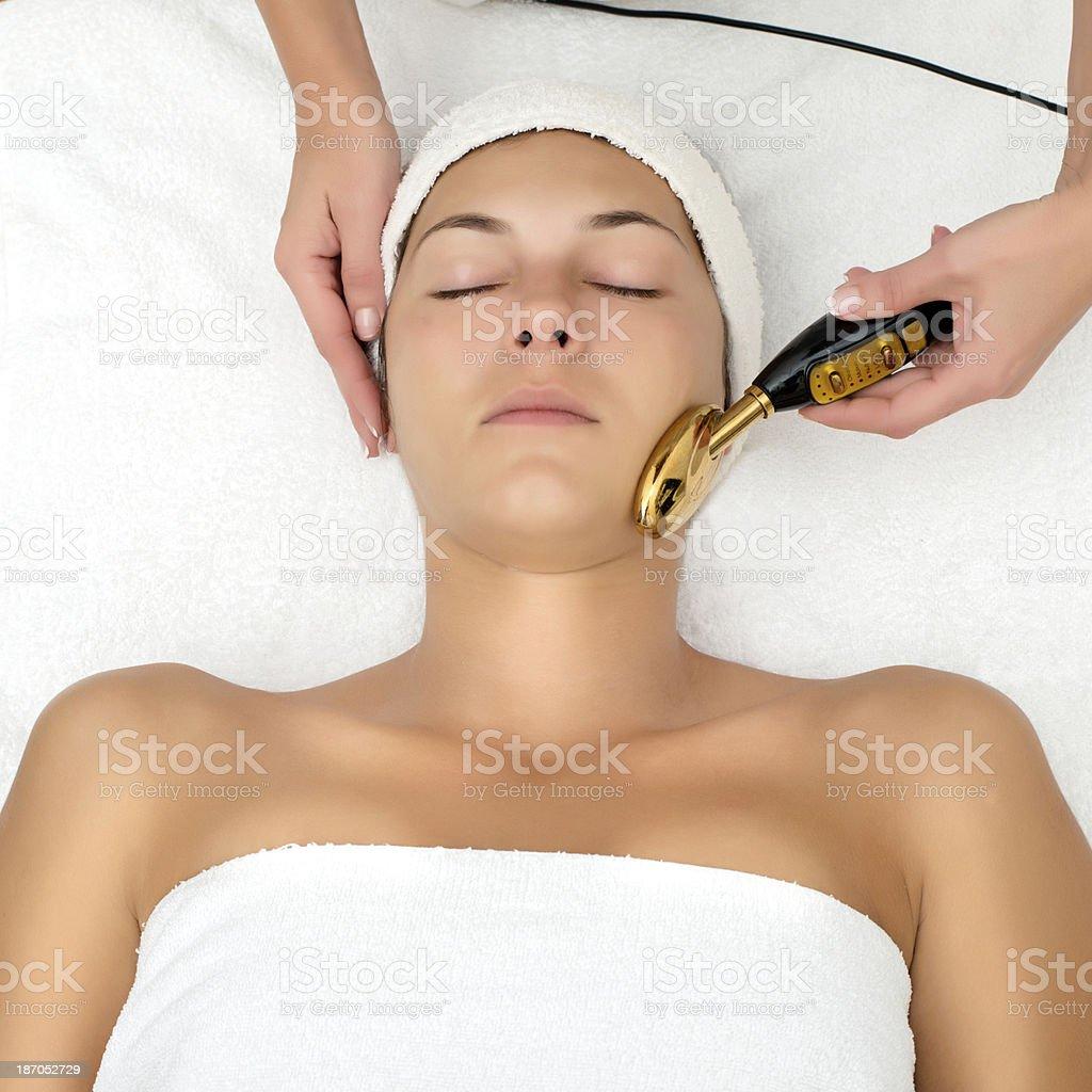 Face treatment royalty-free stock photo