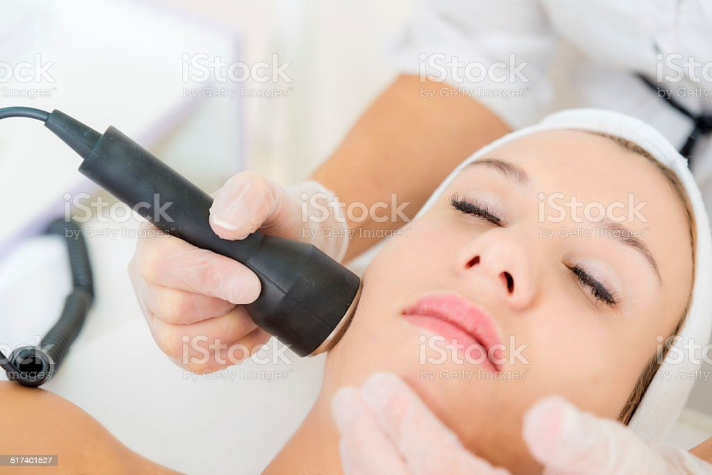Face treatment stock photo