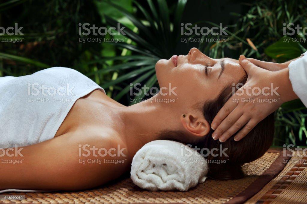 face treatment stock photo