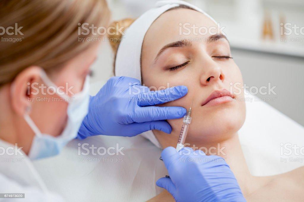 Tratamiento facial - foto de stock
