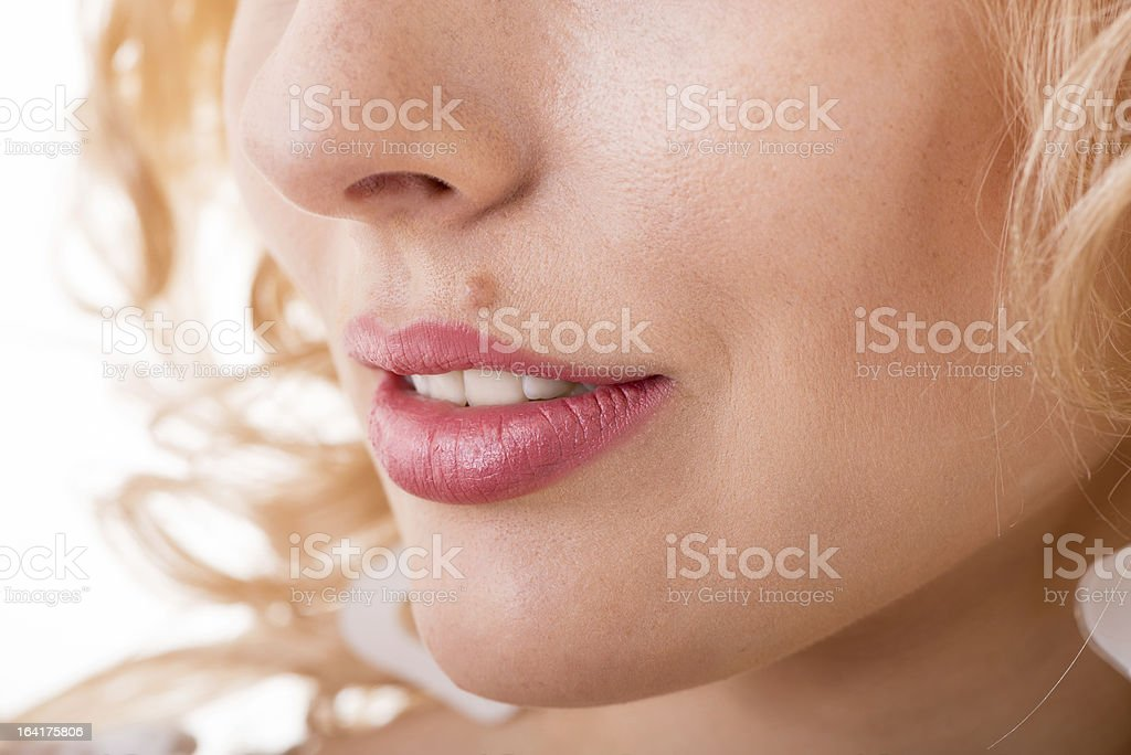 face with a mole royalty-free stock photo