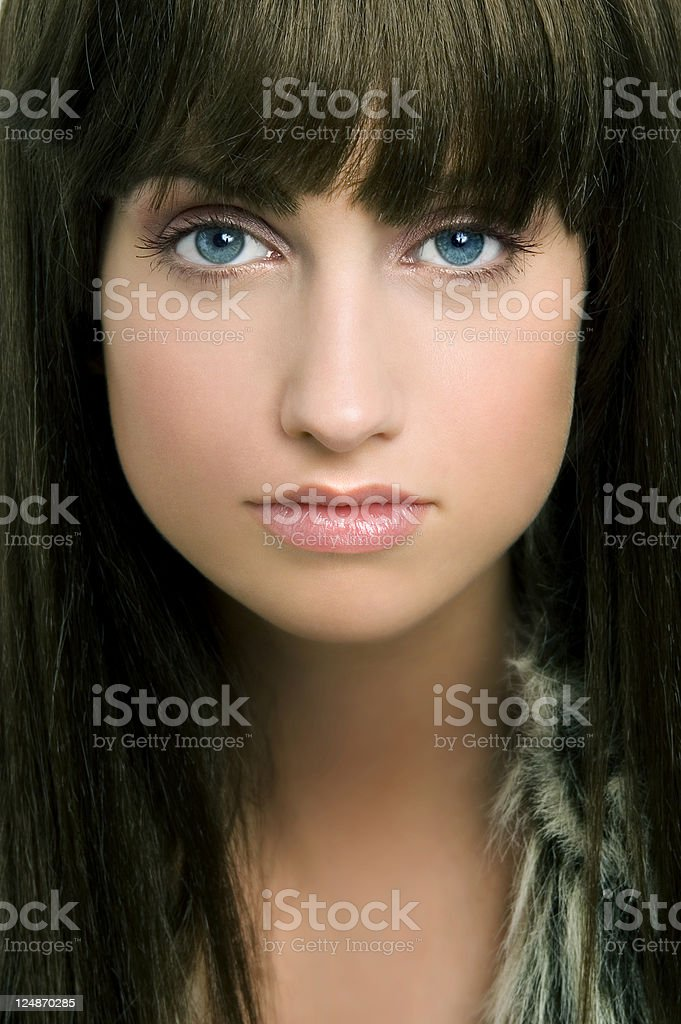 Face With Pony. stock photo