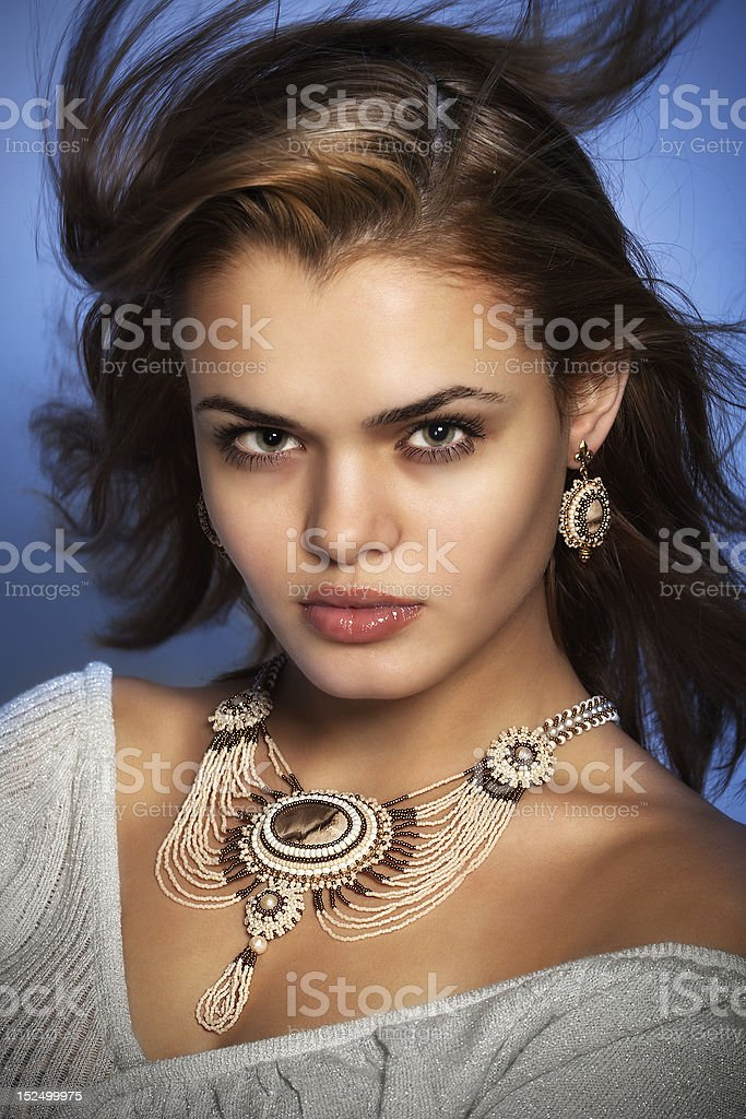 face women jewelry royalty-free stock photo