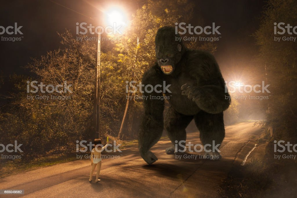 Face Your Fears stock photo