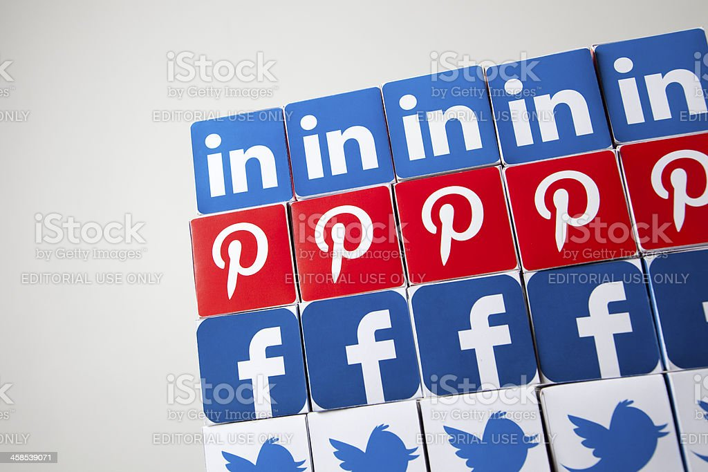 Facebook and twitter background royalty-free stock photo