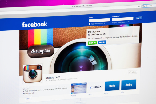 Facebook Homepage And Instagram Stock Photo - Download Image Now