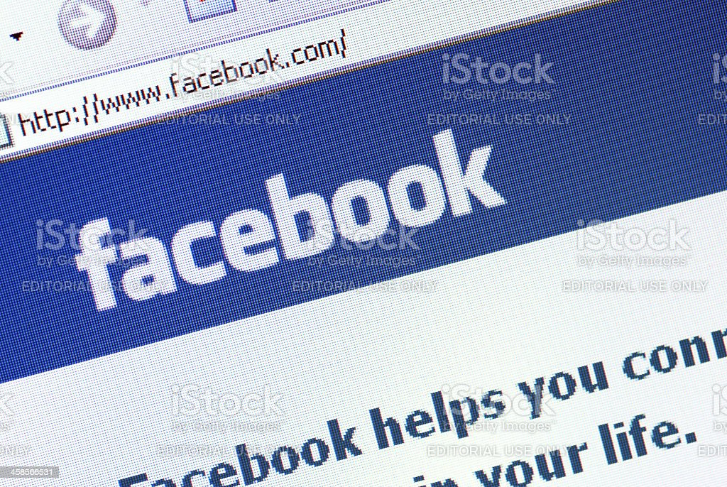 Facebook Homepage stock photo